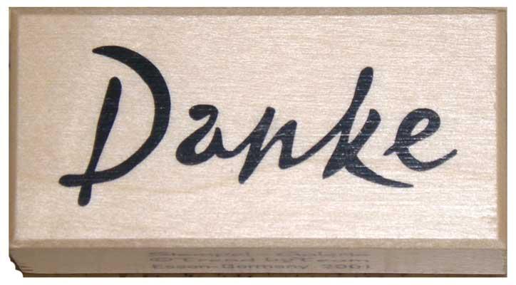 20841 - Schrift-Stempel - 20x40 mm - Danke -