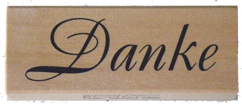 20941 - Schrift-Stempel - 20x40 mm - Danke -