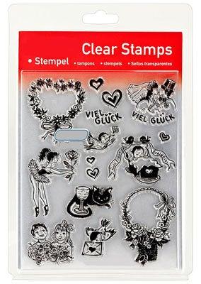 46841 - Clear Stamp Set - Verliebt - Verlobt - Verheiratet -