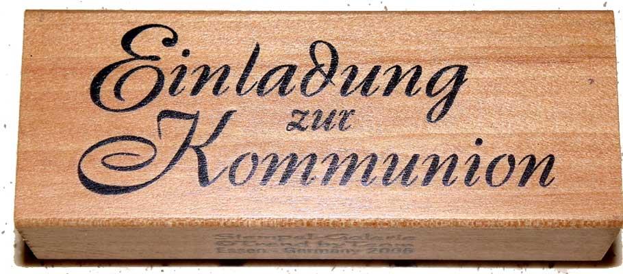 20970 - Schrift-Stempel - 30x80 mm - Einladung zur Kommunion -