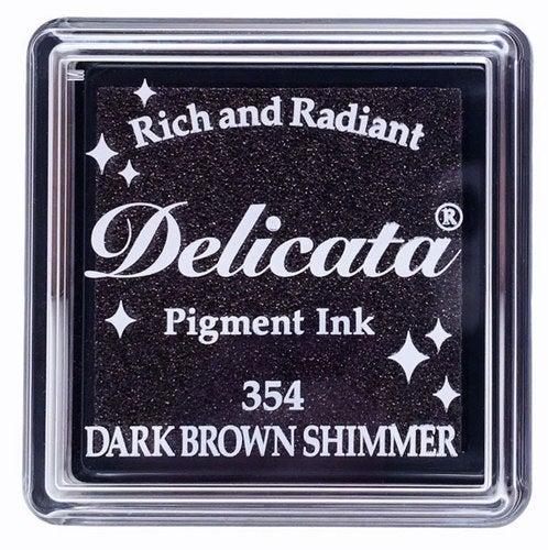 85054 - Delicata - Mini - Dark Brown Shimmer - Stempelkissen -