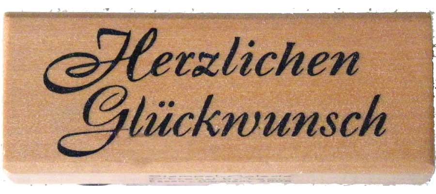 20935 - Schrift-Stempel - 30x60 mm - Herzlichen Glückwunsch -