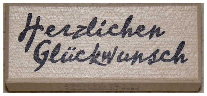 20835 - Schrift-Stempel - 30x70 mm - Herzlichen Glückwunsch -