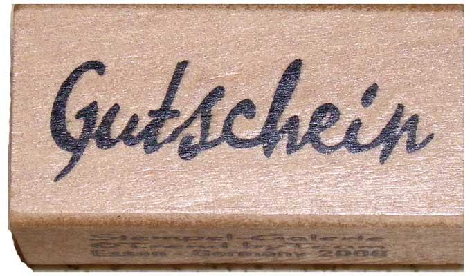 20890- Schrift-Stempel - 20x40 mm - Gutschein -