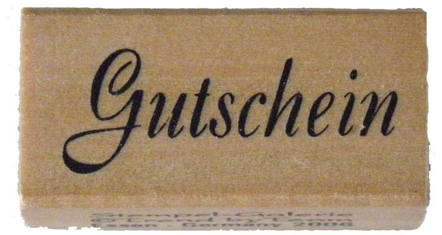 20990 - Schrift-Stempel - 20x40 mm - Gutschein -