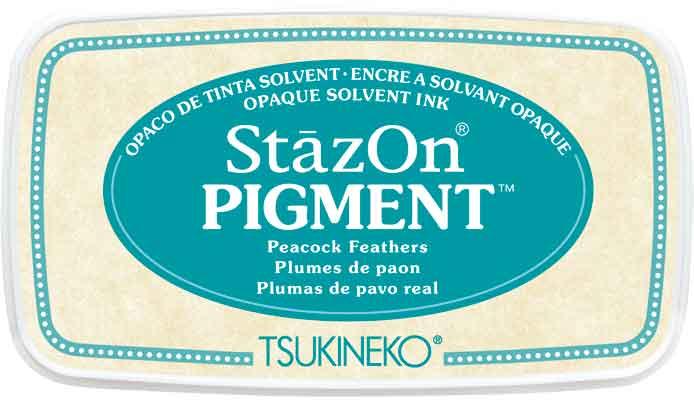 98162 - StazOn Pigment - Peacock Feather - Stempelkissen -
