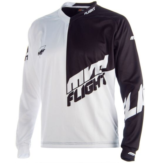 FLIGHT JERSEY BLACK / WHITE