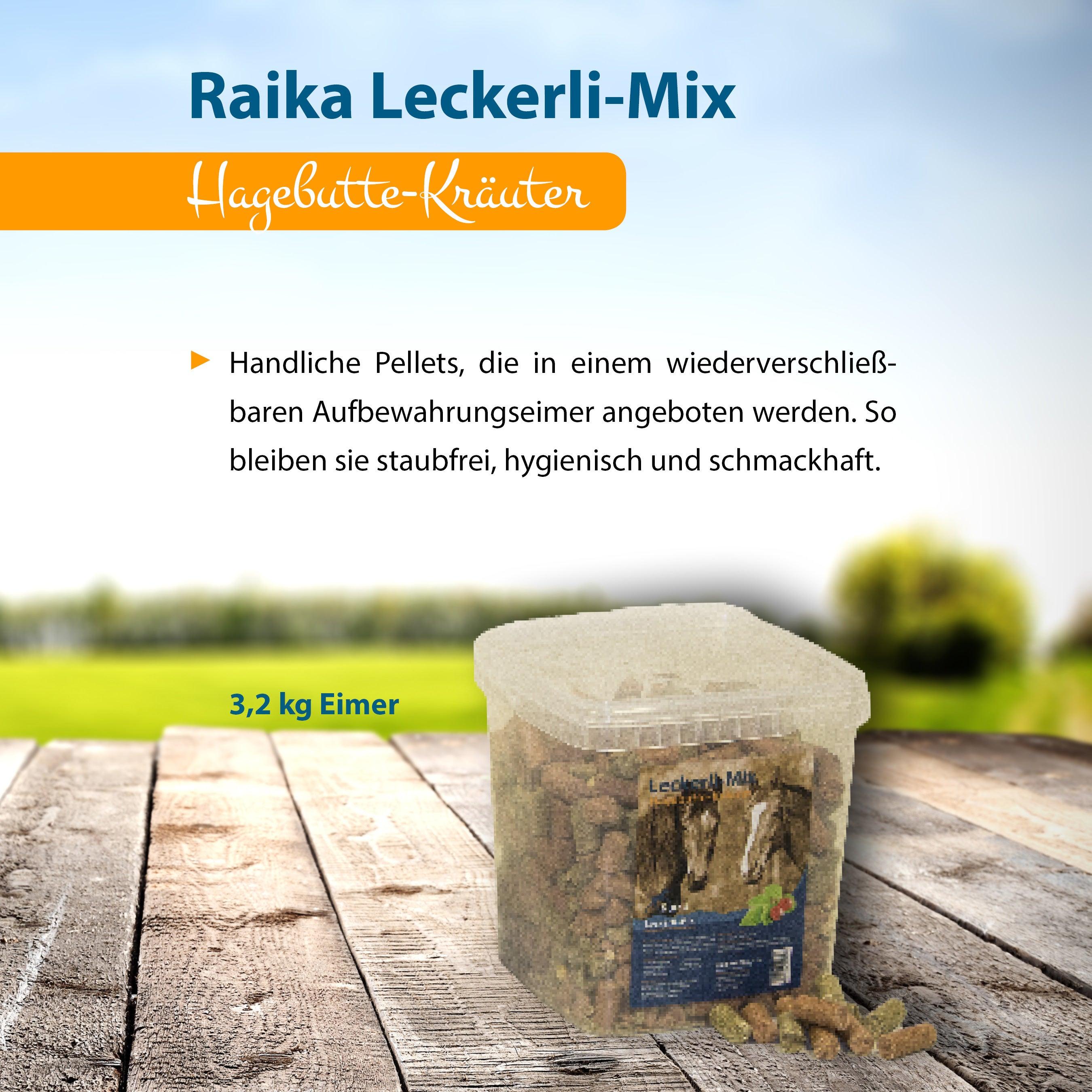 Raika Leckerli-Mix Hagebutte-Kräuter Pferdefutter