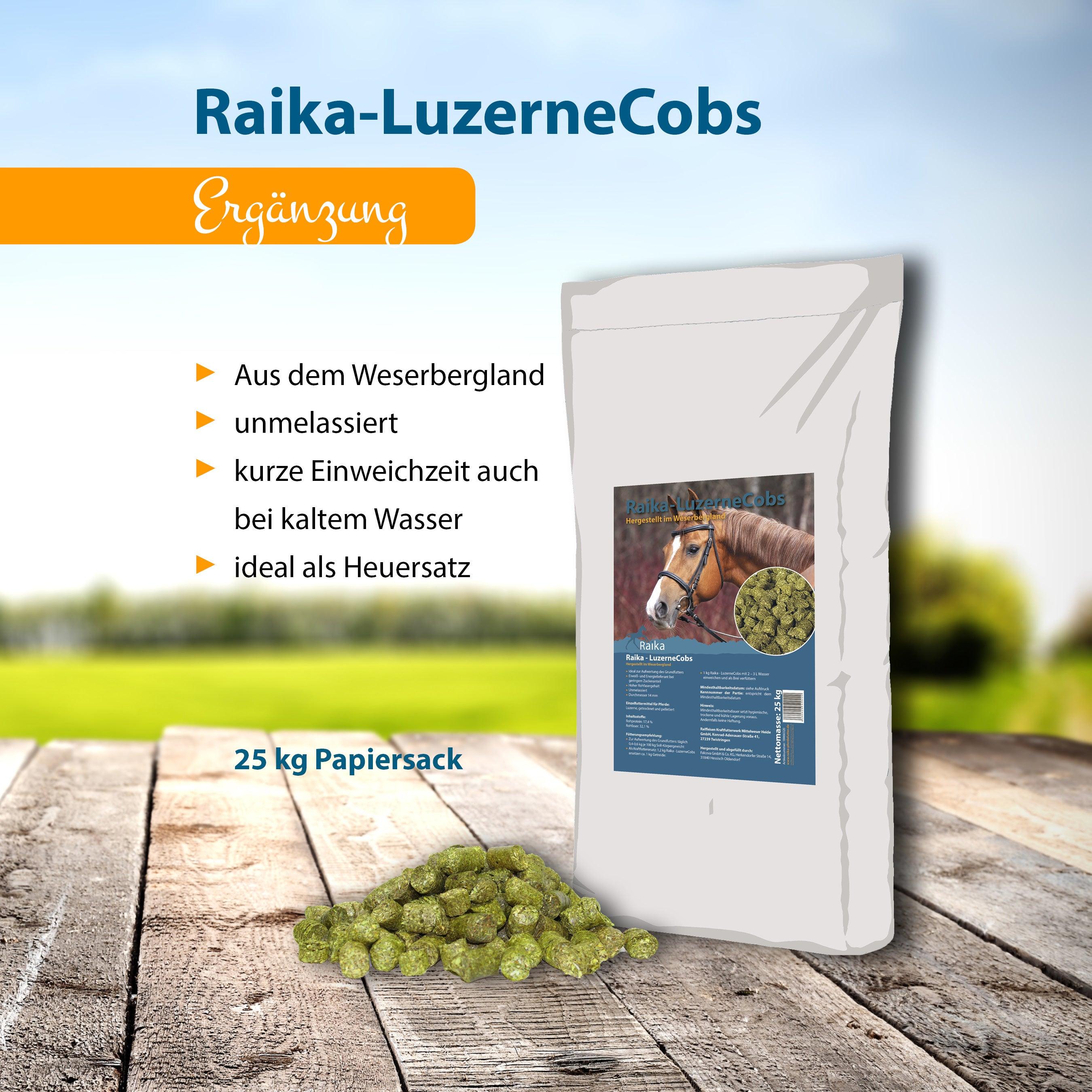 Raika-LuzerneCobs Pferdefutter