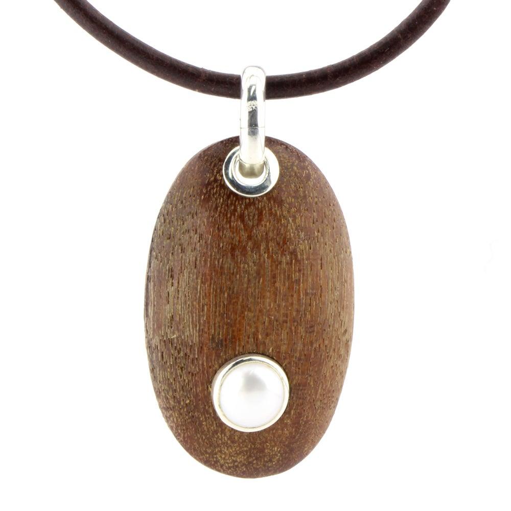 Holzkiesel Perle groß