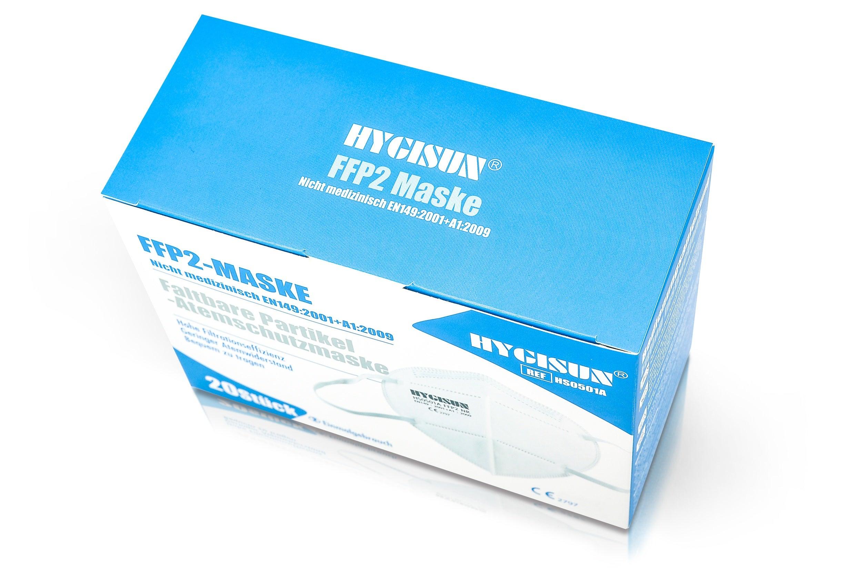 Atemschutzmaske FFP2 | 1 Box - 20 Masken - einzeln Verpackt