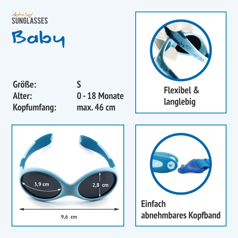 Baby Sonnenbrille | Mädchen & Jungen | Größe S | Fish
