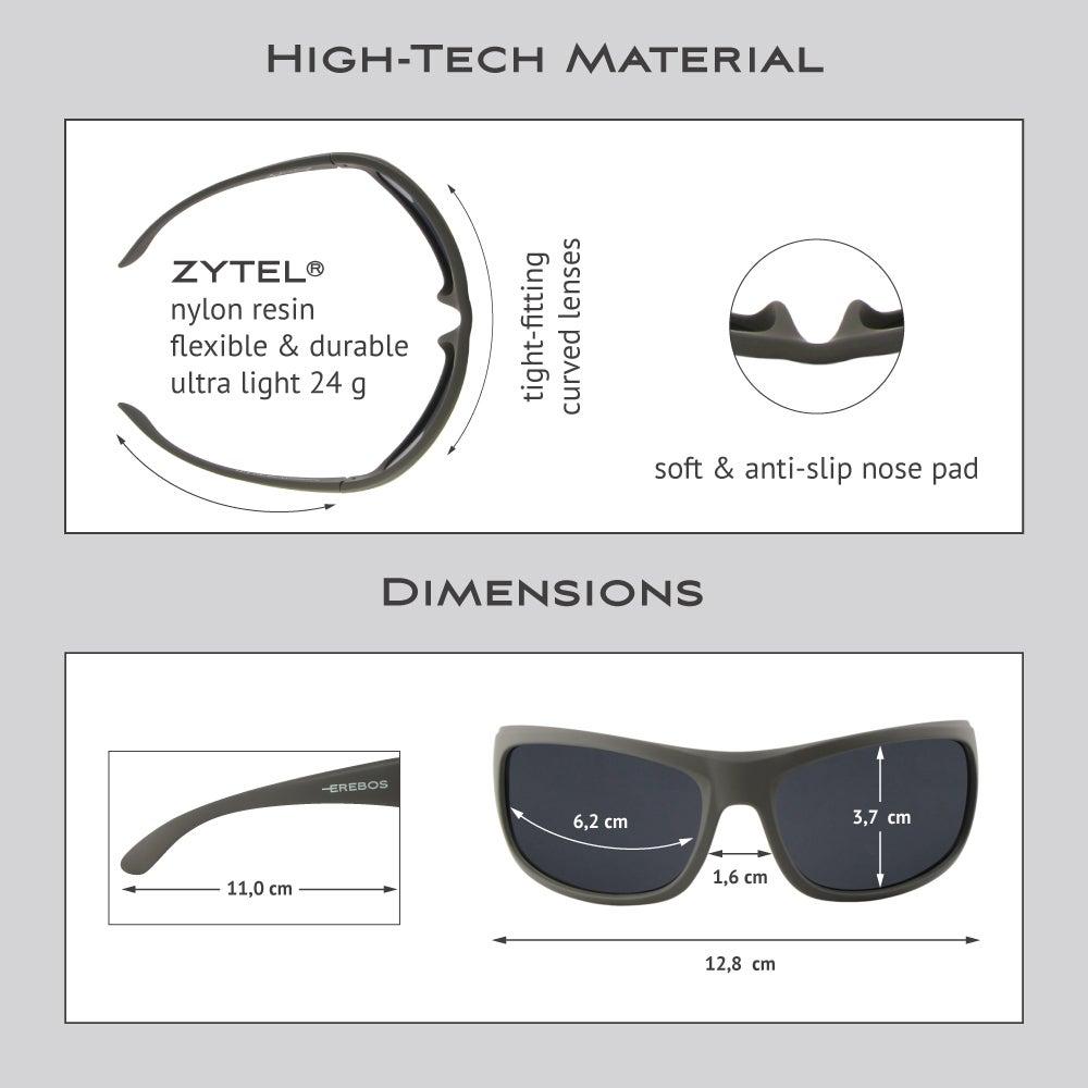 Erebos | Anthracite - black lenses - grey vision