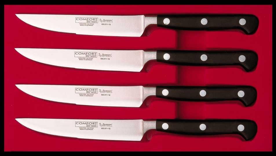 Burgvogel steak knife set comfort line - 4 pieces