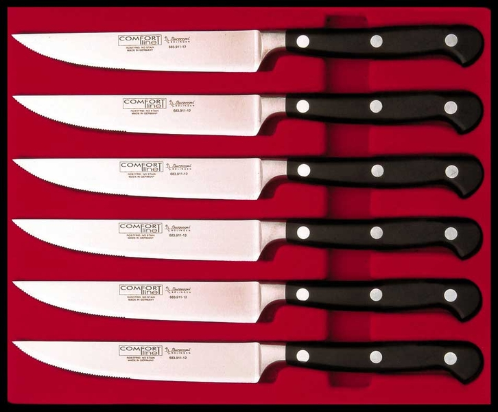 Burgvogel steak knife set comfort line - 6 pieces