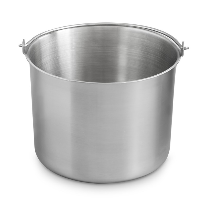 Stainless steel ice container