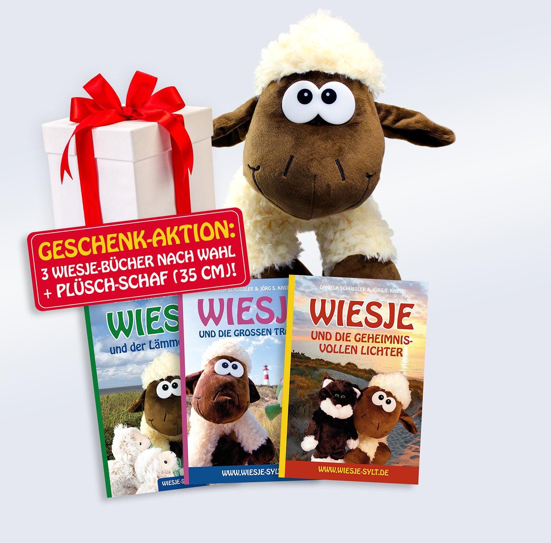 Lesezeit mit Wiesje: 3 Bücher + Plüsch-Schaf als Bonus