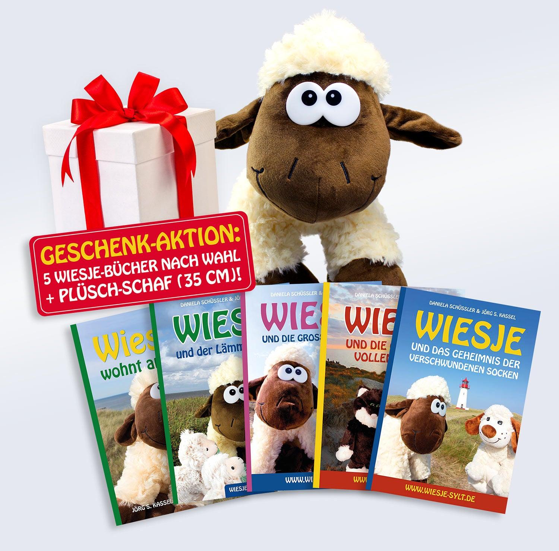 Lesezeit mit Wiesje: 5 Bücher + Plüsch-Schaf als Bonus