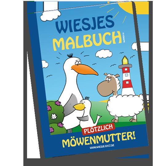 Malbuch + Plüsch-Babymöwe