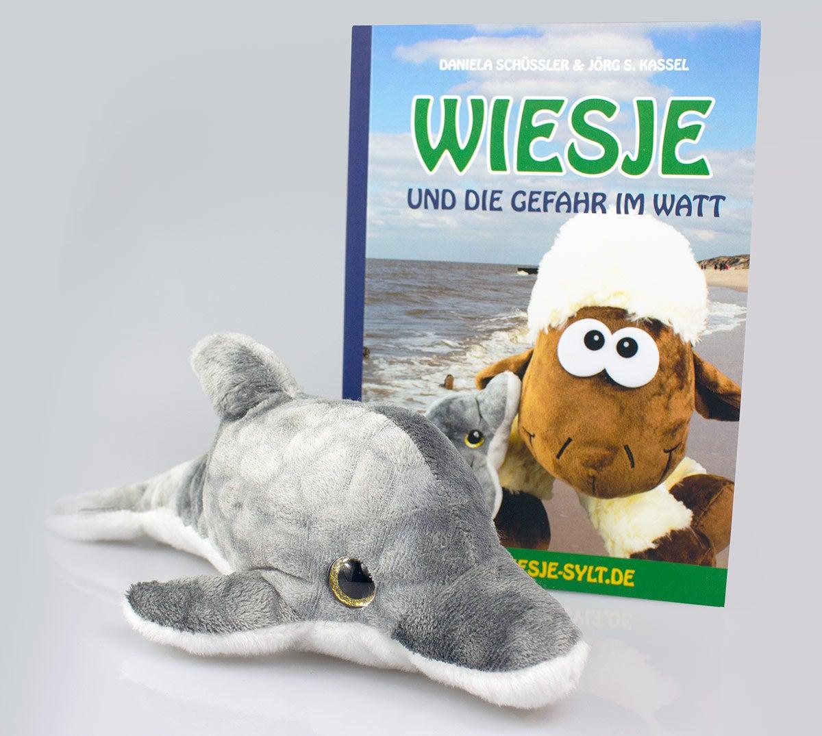 Wiesje und die Gefahr im Watt + Plüschtier Schweinswal Vicky