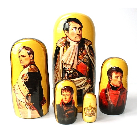 A 5 nested set of Celebrities - Napoleon