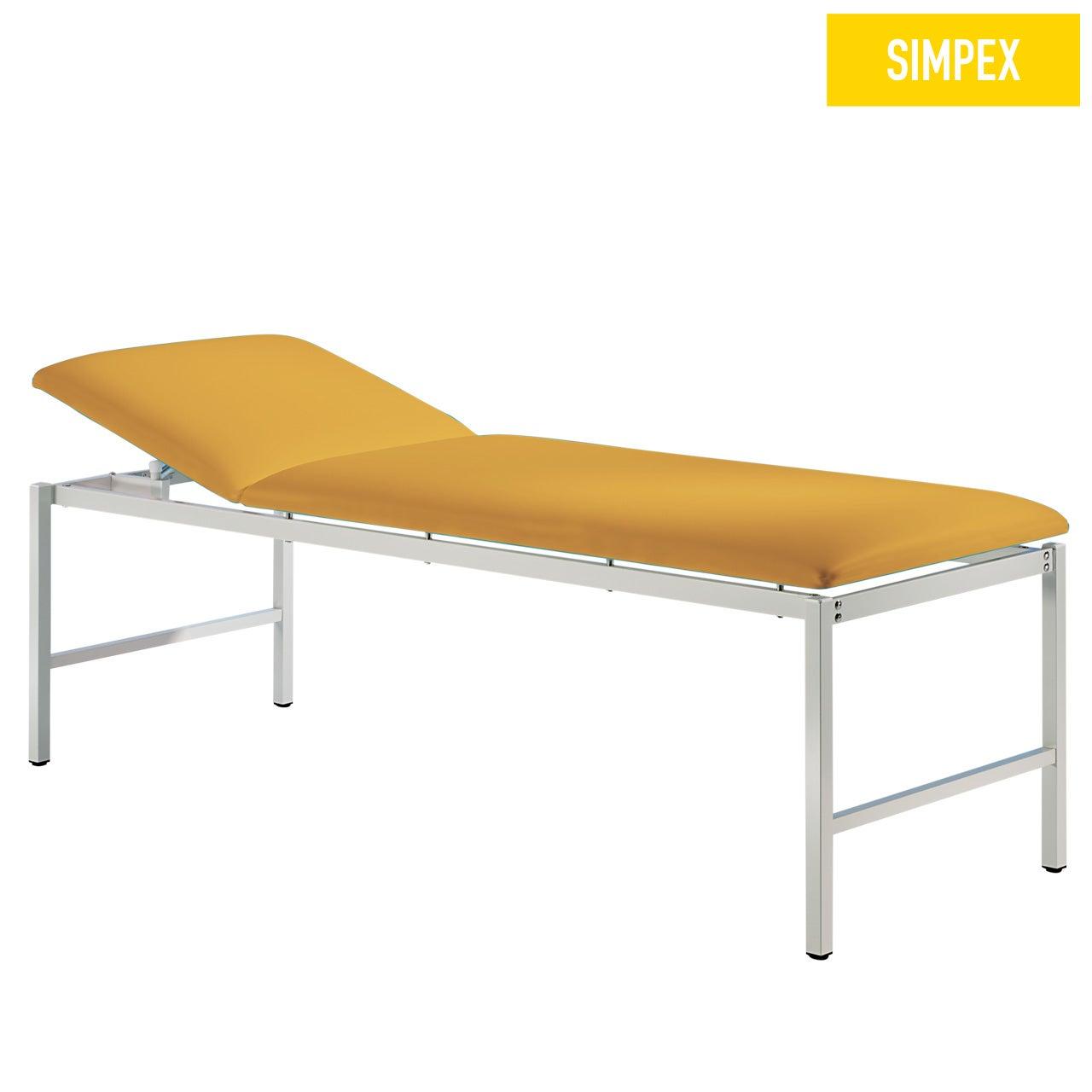 Multifunktionsliege MEDI-LUX 65 Classic XL mit Kunstleder in gelb (mais) und einem Gestell aus Stahl grauweiß gepulvert von SIMPEX