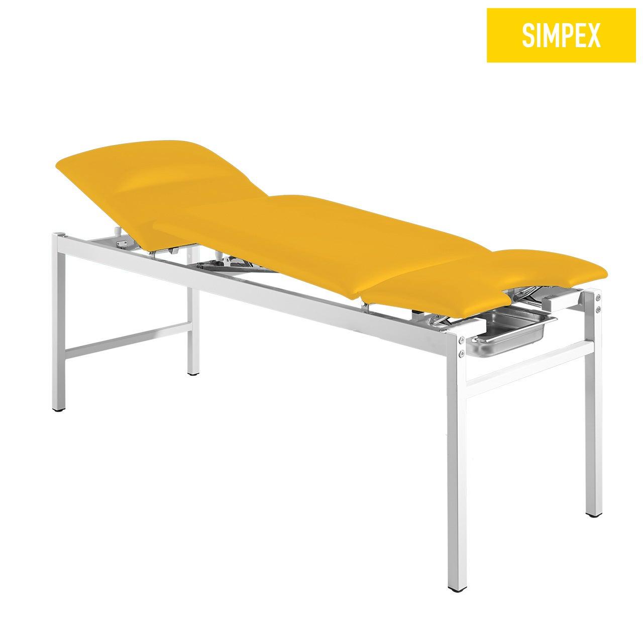 Spezialliege VS-GYN 65 Gyn mit Kunstleder in gelb (mais) und einem Gestell aus Stahl grauweiß gepulvert von SIMPEX