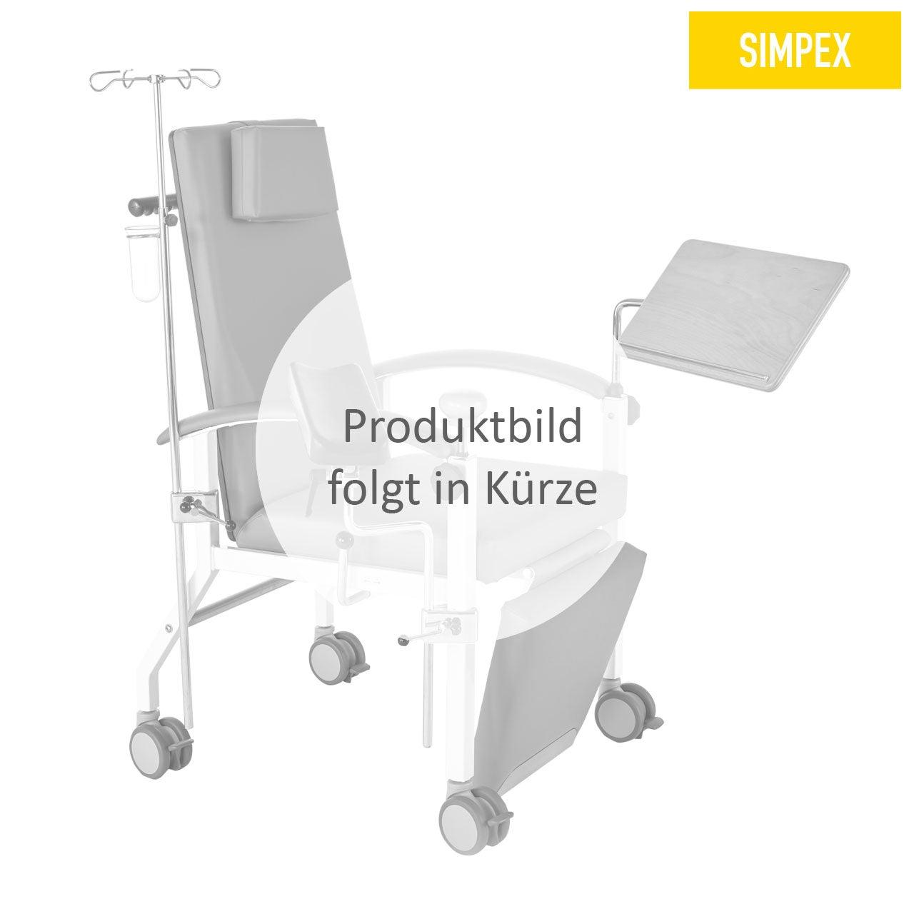 Blutentnahmestuhl Sessel HAEMO-STAT Cuneo XXL Mobil mit Kunstleder in gelb (mais) und einem Gestell aus Stahl grauweiß gepulvert von SIMPEX
