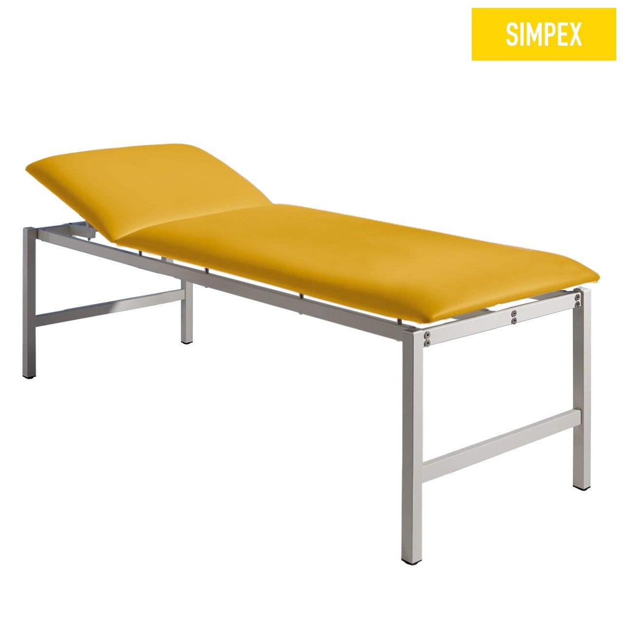 EKG-Schwerlastliege HERKULES 80 Classic XL mit Kunstleder in gelb (mais) und einem Gestell aus Stahl grauweiß gepulvert von SIMPEX