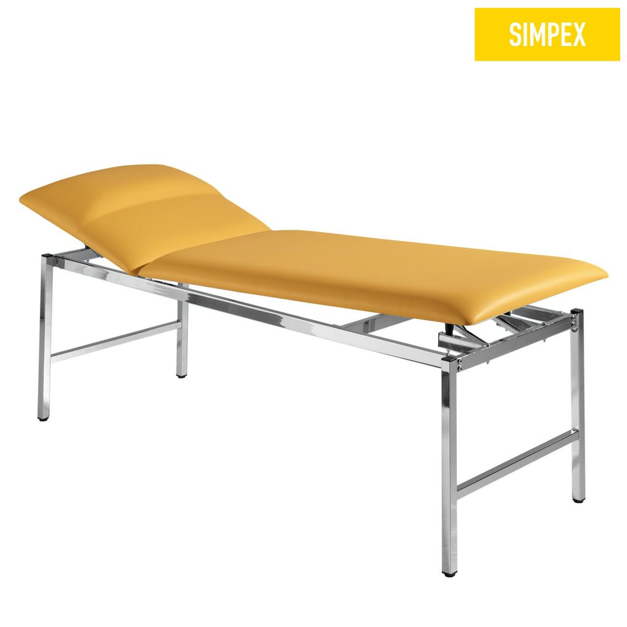 Multifunktionsliege MEDI-LUX 65 Siesta mit Kunstleder in gelb (mais) und einem Gestell aus Stahl verchromt von SIMPEX