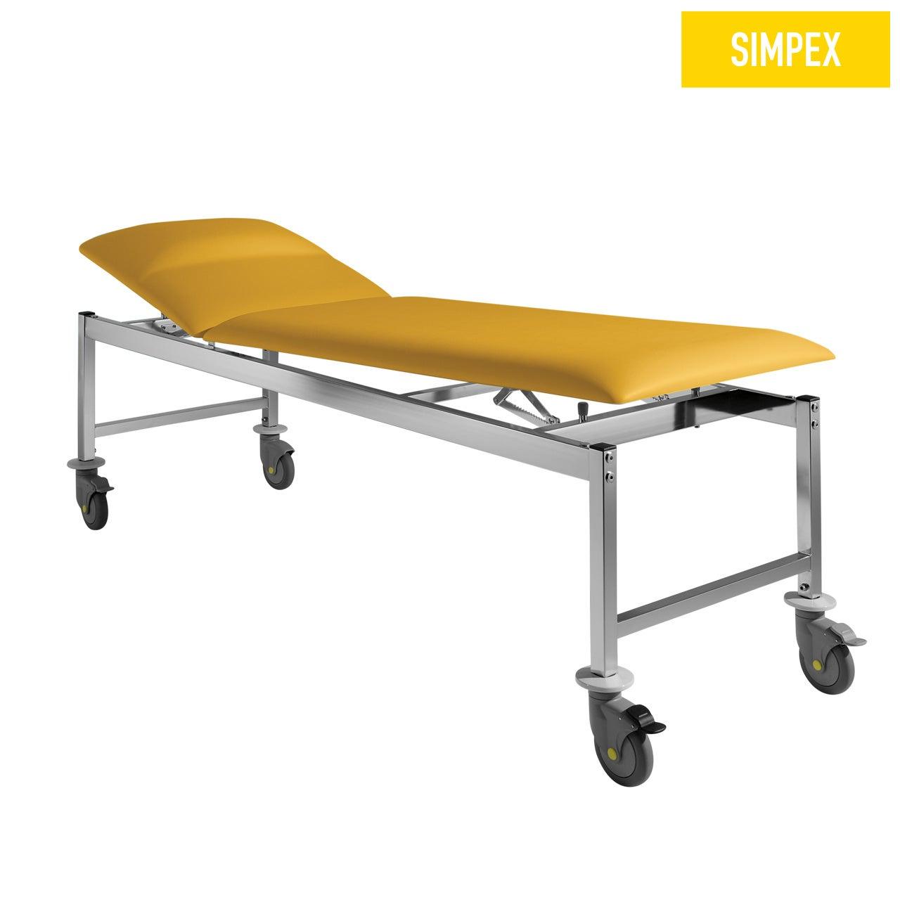 Spezialliege VS-SIESTA 65 Siesta Mobil mit Kunstleder in gelb (mais) und einem Gestell aus Stahl verchromt von SIMPEX