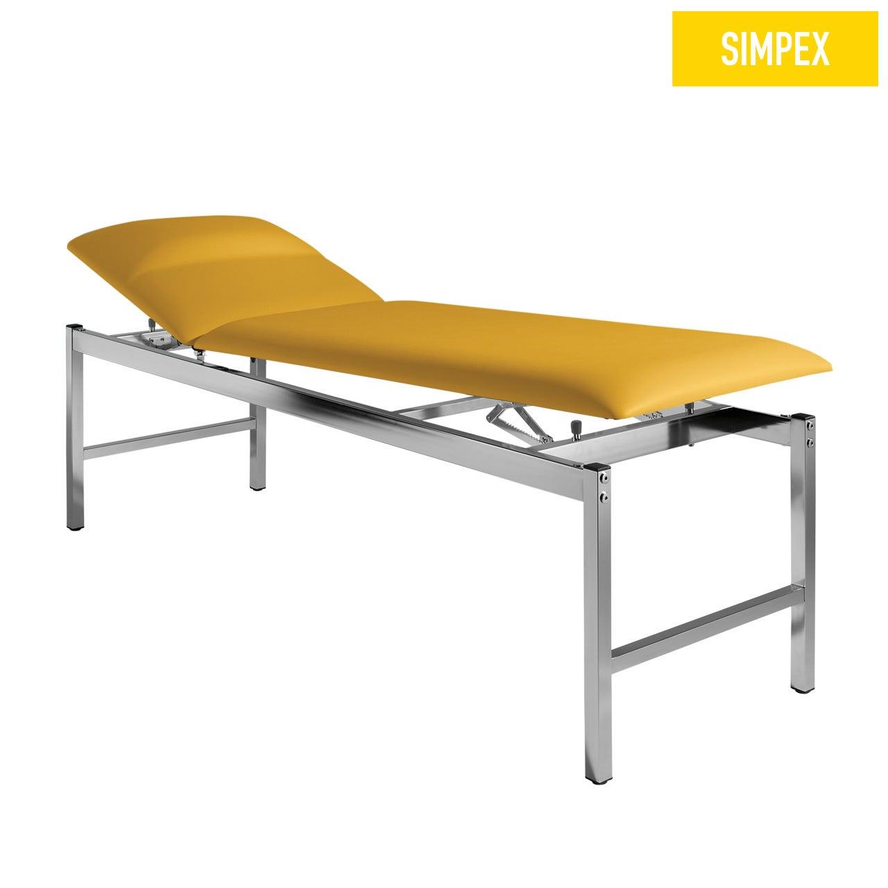 Spezialliege VS-SIESTA 65 Siesta mit Kunstleder in gelb (mais) und einem Gestell aus Stahl verchromt von SIMPEX