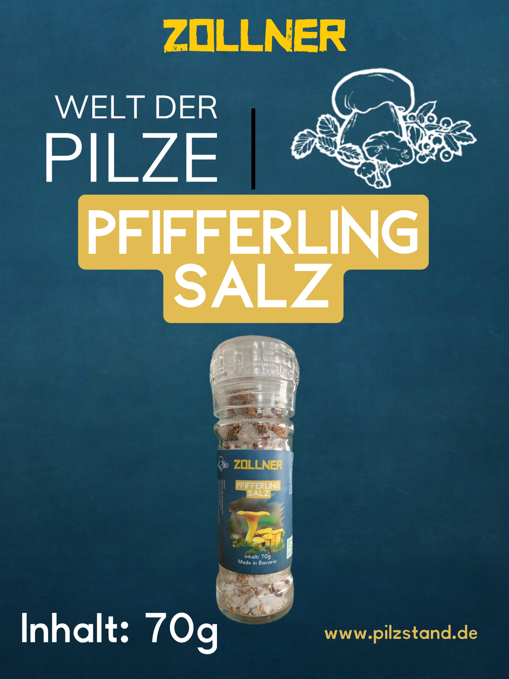 Pfifferling - Salz 70g