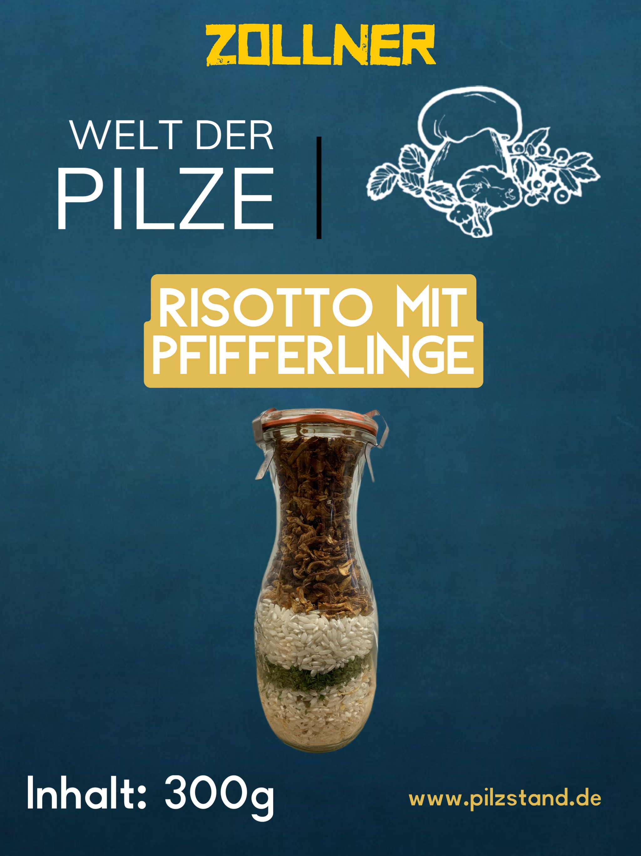 Risotto mit Pfifferlinge 300g Glas