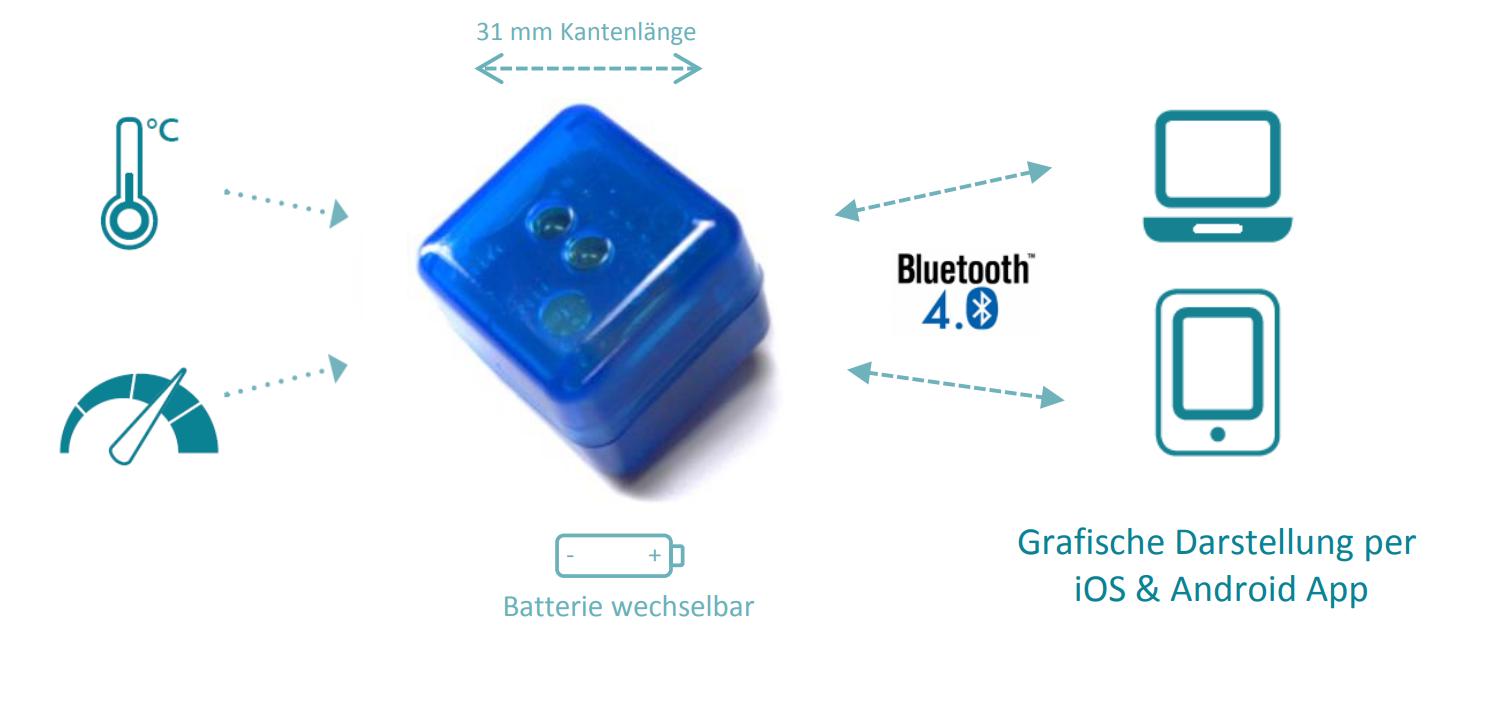 Beschleunigung-Temperatur Datenlogger blueDAN axel_4.0