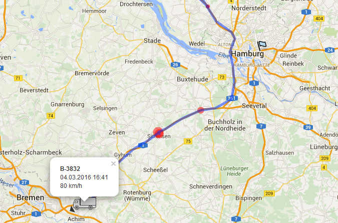GPS-Sender GPSmount