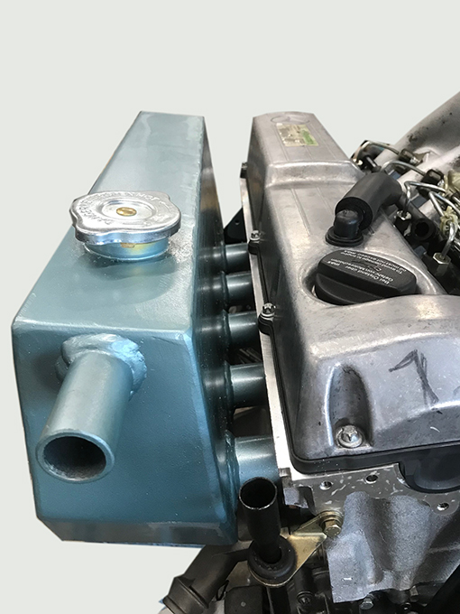 Abgassammelrohr - wassergekühlt OM602 mit Ausdehnungstank