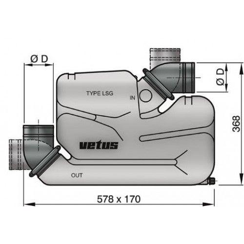 Vetus Wassersammler LSG60 mit Rückschlagklappe