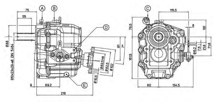 Technodrive TMC60A Bootswendegetriebe