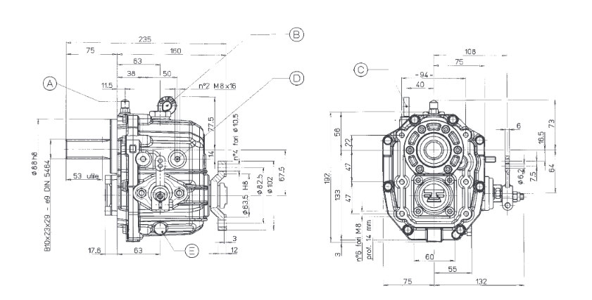 Technodrive TMC40P Bootswendegetriebe