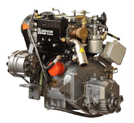 Lombardini LDW 702M 20PS mit Wendegetriebe TMC 40P