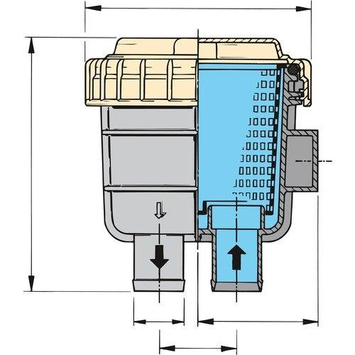 Vetus Wasserfilter FTR 330/19mm