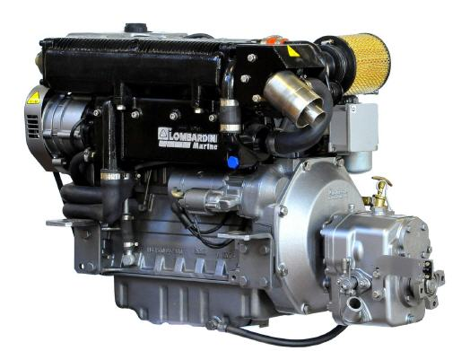 Lombardini LDW 2204M Turbo 65PS mit Wendegetriebe