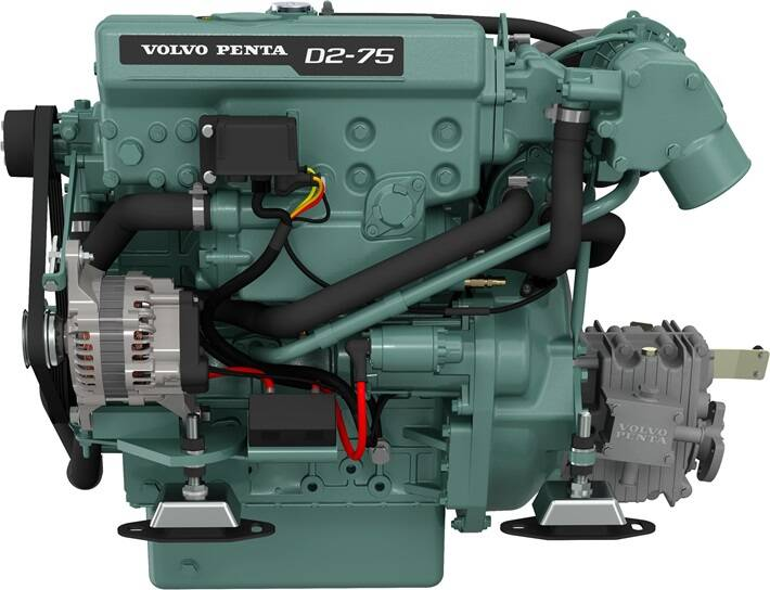 Volvo Penta D2-75 Marinediesel 75PS mit HS25 Wendegetriebe