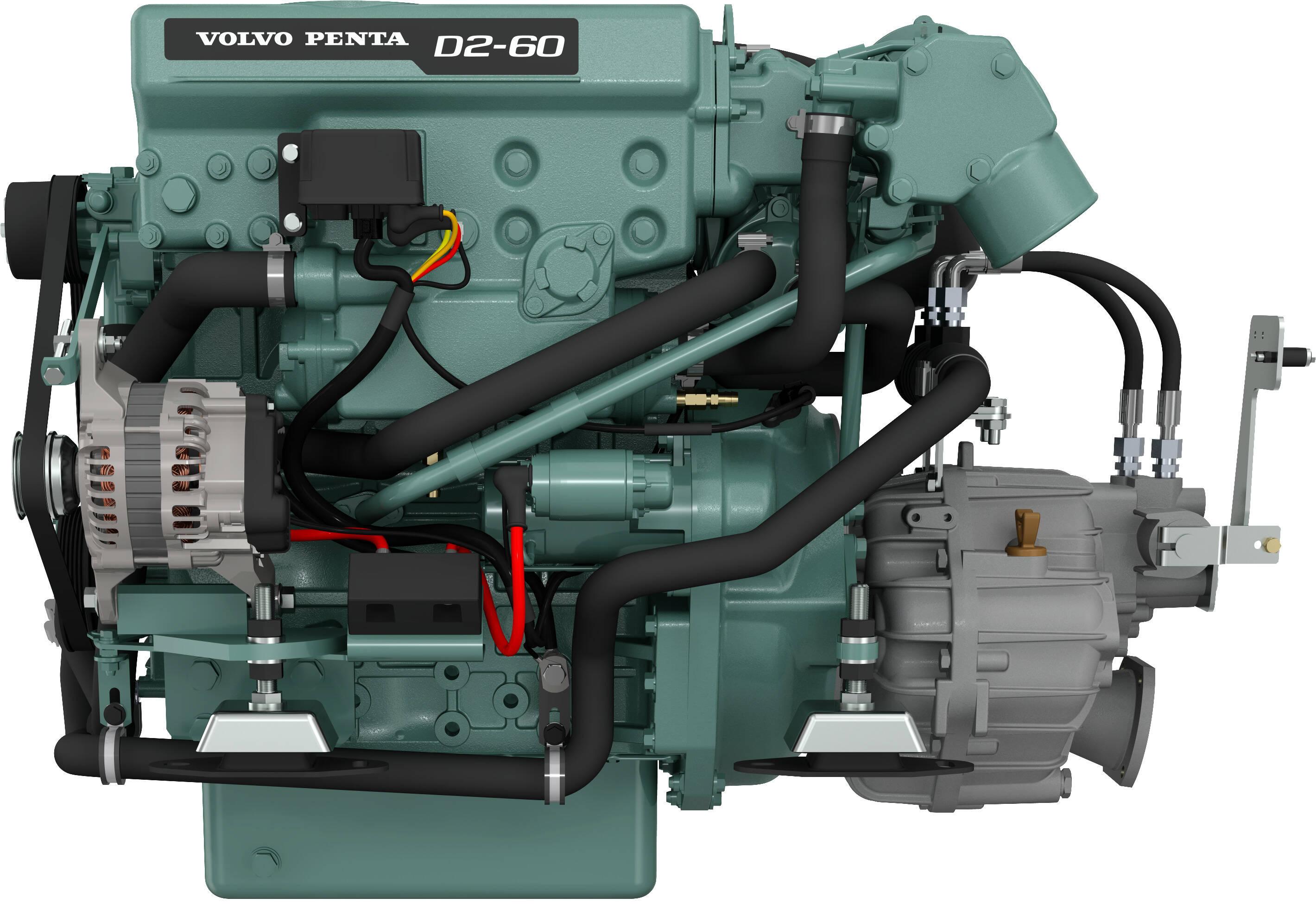 Volvo Penta D2-60 Marinediesel 60PS mit HS25 Wendegetriebe