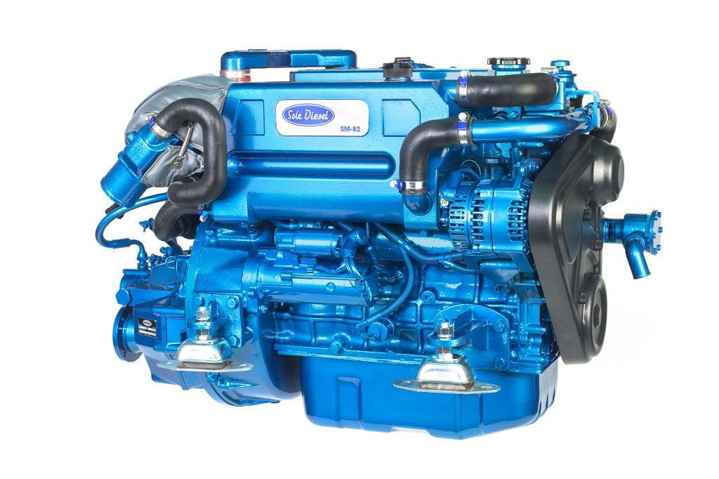 Solé SM 82 Marinediesel 82PS mit TM345 Wendegetriebe