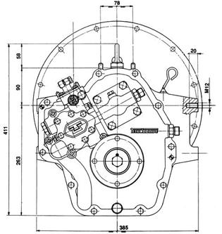 Technodrive TM170 hydraulisches Bootswendegetriebe