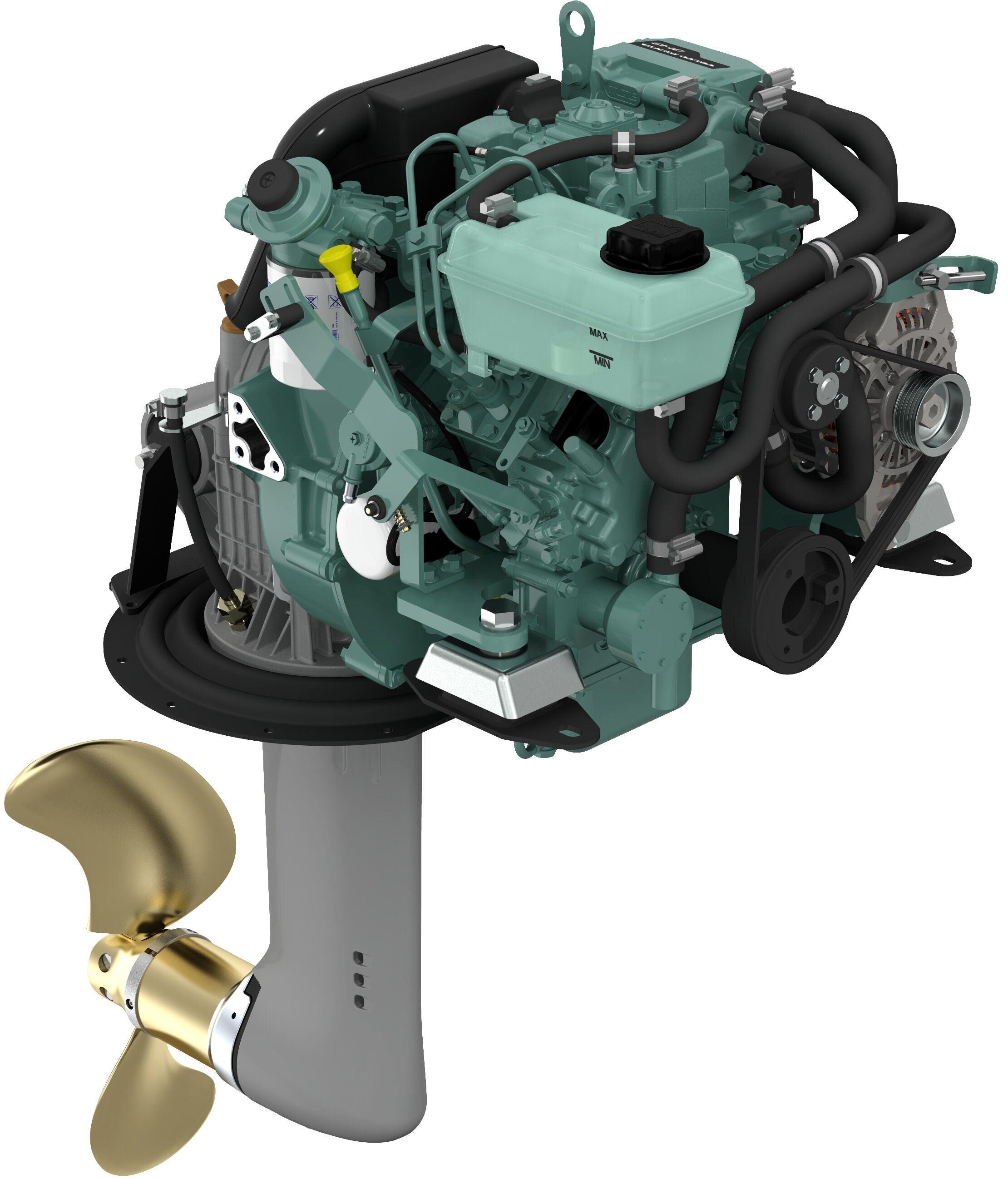 Volvo Penta D1-13 Bootsmotor mit Saildrive 130S