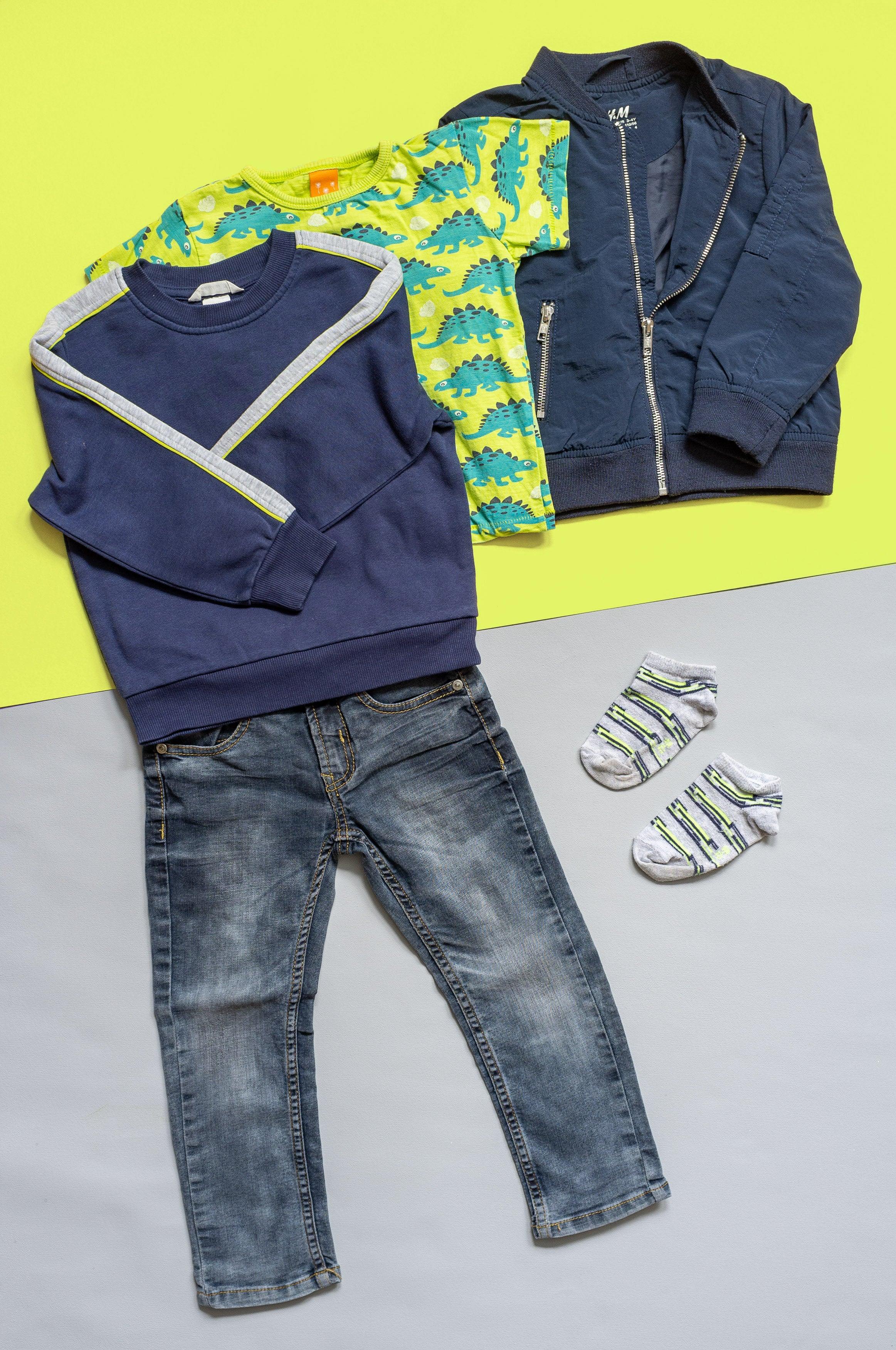 Outfit Gr. 104 für Jungen - 5 Teile - teilweise Bio
