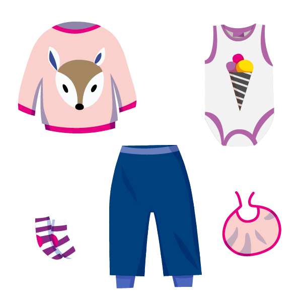 ❀ Sommer Outfit ❀ Baby Mädchen Kleidung ★ pink